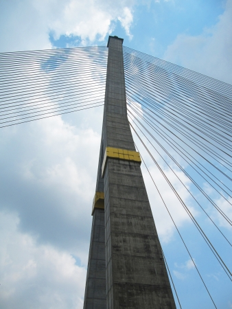 Rama eight bridge, Bangkok, Thailand                               photo