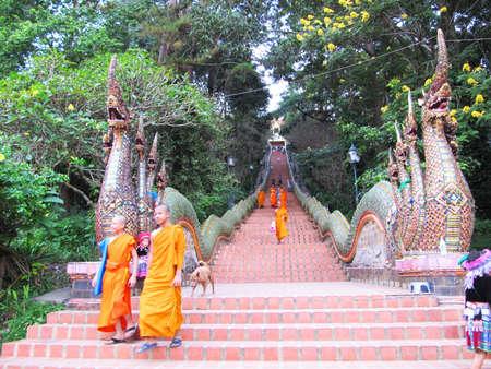 reconstruct:  Wat Doi Suthep, Chaing Mai, Thailand.                                        Editorial