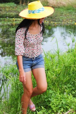 buriram: Asian girl in Buriram, Issan.