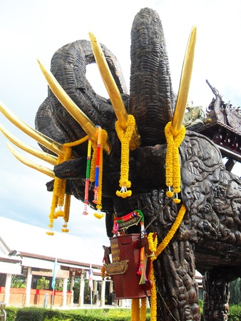 Elephant statue, Thailand  photo