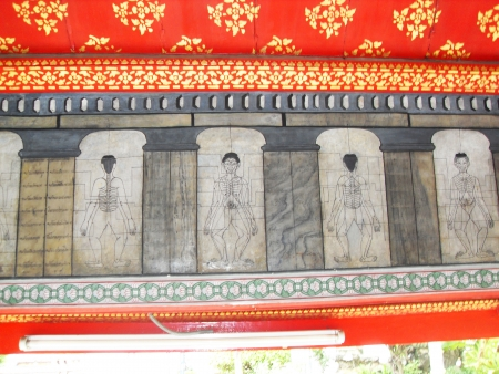 Artwork in a temple, Thailand  photo