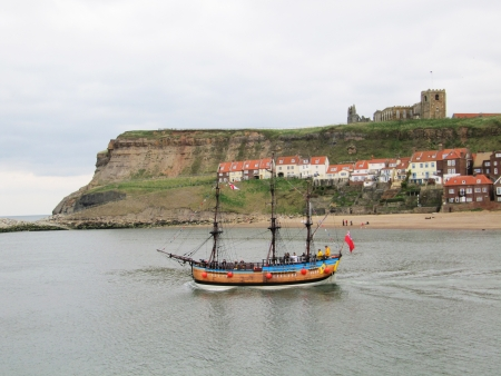 whitby: Whitby town, Yorkshire, England                                       Editorial