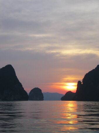 Sunset in Phuket, Thailand                                          photo