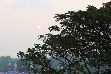 Sunset in Bangkok, Thailand  photo