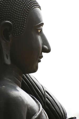 Black Buddha statue, Thailand  photo
