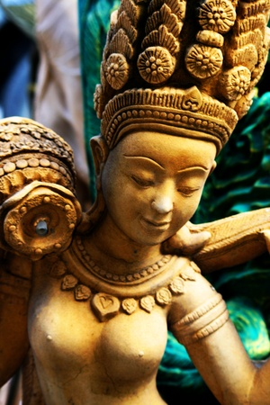 Stone angel carved statue in Thailand  photo