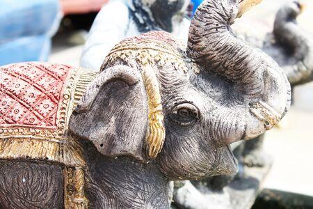 Stone elephant sculpture in a garden in Thailand  Stock Photo - 14196662