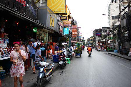 BANGKOK - JUNE 27  Soi 5 Nana, red light district in Sukumvit on June 27, 2012 in Bangkok, Thailand  Stock Photo - 14443686