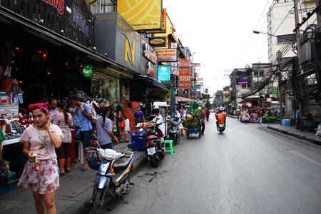 BANGKOK - JUNE 27  Soi 5 Nana, red light district in Sukumvit on June 27, 2012 in Bangkok, Thailand  Stock Photo - 14443691