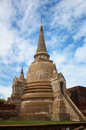Ancient Buddhist temple in Ayutthaya, Thailand  photo