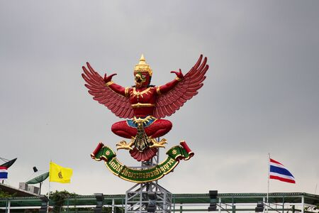 Eagle statue on a building in Bangkok, Thailand  photo