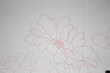 wall decal: Flower art on a wall