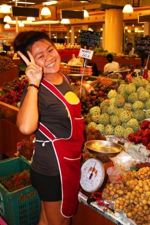 People in a market, Bangkok, Thailand