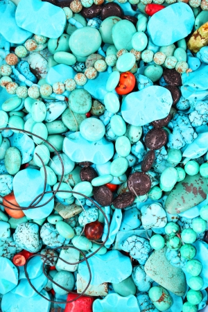Turquoise gemstones for sale in Bangkok, Thailand  Stock Photo - 15281133