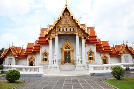 Buddhist temple in Bangkok, Thailand  photo