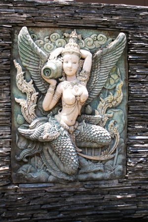 Stone angel fountain, Thailand  photo