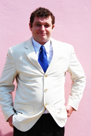 Business man in a white suit in Thailand Stock Photo - 15548172