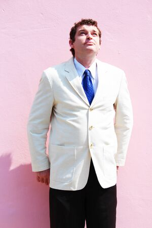 Business man in a white suit in Thailand Stock Photo - 15659113