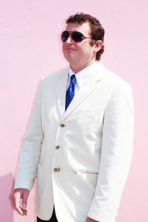 Business man in a white suit in Thailand  photo
