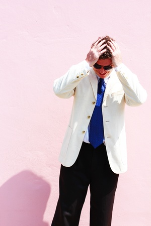 Business man in a white suit in Thailand Stock Photo - 15451471