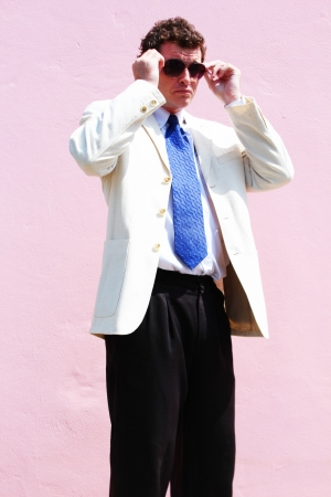 Business man in a white suit in Thailand Stock Photo - 15451499