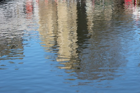 irridescent: Reflections of York City, England  Stock Photo