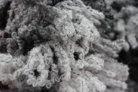 woolley: Black and White Wool Background, England