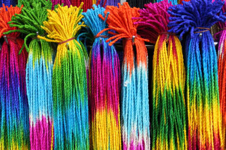 Rainbow Coloured String , Bangkok, Thailand photo