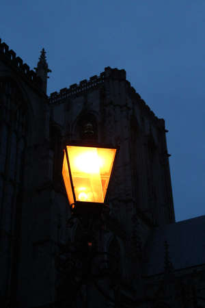 Victorian Gas Lighting, Winter, England  photo