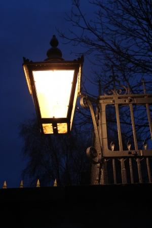 Victorian Gas Lighting, Winter, England  photo