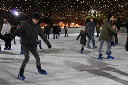 exhilerating: Ice Skating For Fun, Winter, England Editorial