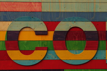 yellow  ochre: Rainbow Wooden Lettering, England