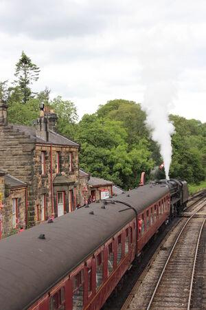 Train at Rural Railway Station, England