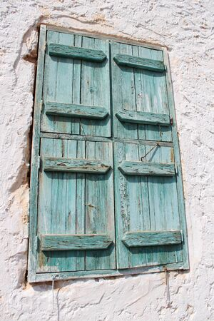 louvered: Old Green Shutters