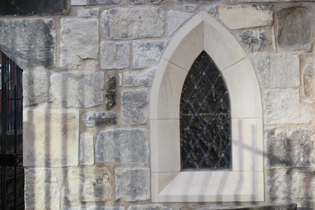 church window: Simple Gothic Church Window, England.