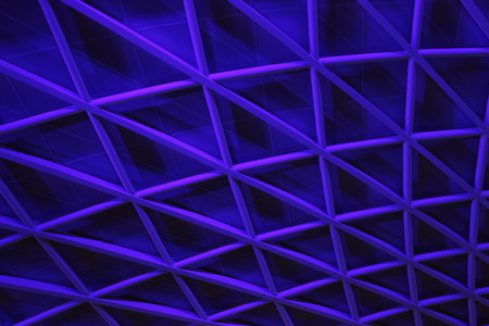 angular: Blue Angular Geometric Background, England. Stock Photo