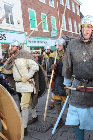re design: Historical Procession of Viking Warriors through York, England.