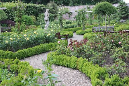 walled: Walled Rose Garden Yorkshire England.