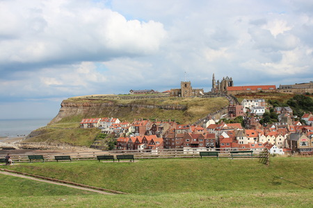 whitby: Whitby Town, Yorkshire, England. Stock Photo