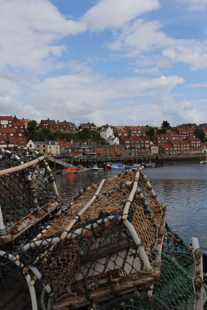 lobster pots: Lobster Pots, Whitby, Yorkshire. Stock Photo