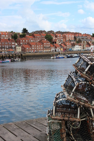 whitby: Lobster pots, Whitby, Yorkshire.