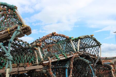 lobster pots: Lobster pots, Whitby, Yorkshire.