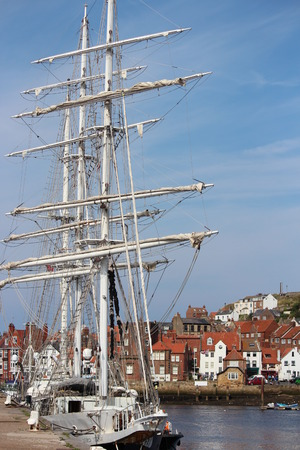 tall ship: Tall Ship at Whitby Regatta, August 2015. Editorial