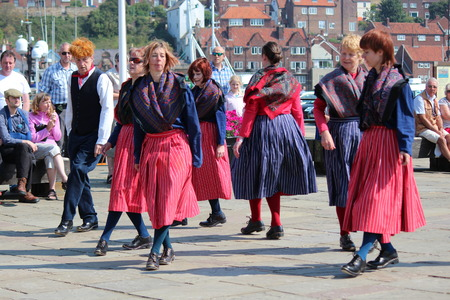 of yesteryear: Clog Dancers at Whitby Folk Festival, August 2015.