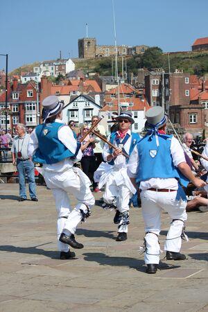morris: Morris Men Dancing at Whitby Folk Festival, August 2015