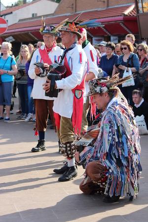 of yesteryear: Morris Men Dancing at Whitby Folk Festival, August 2015. Editorial