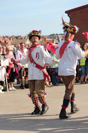 morris: Morris Men Dancing at Whitby Folk Festival, August 2015. Editoriali