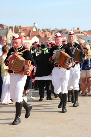yesteryear: Musicians for Sword Dancers at Whitby Folk Festival, August 2015.