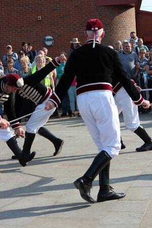 epaulettes: Sword Dancers at Whitby Folk Festival, August 2015.