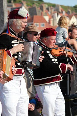 epaulettes: Musicians at Whitby Folk Festival, August 2015.